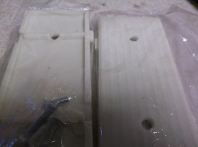 2 Pass & Seymour Uniline Ivory Art Deco Ribbed Blank Wall Outlet Switch Plates