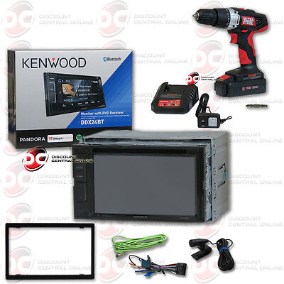 "Kenwood Ddx24Bt Car 6.2"" Touch Lcd Dvd Bluetooth Stereo Free 18V Cordless Drill"