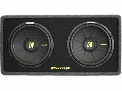 "Kicker DCWS122 Pair Dual 2 12"" CWS124 Sub Woofer Enclosed Sealed Bass Box"