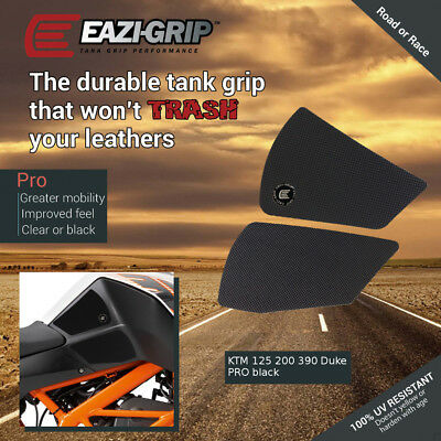 Eazi-Grip PRO Tank Grips for KTM 125, 200 and 390 Duke, clear or black