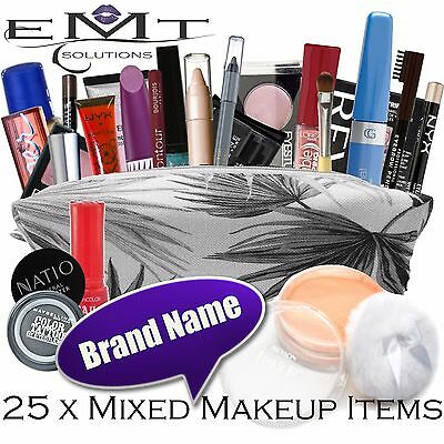 25 x Mixed Makeup Items - Bulk Lot - Revlon L'Oreal Max Factor Maybelline & More