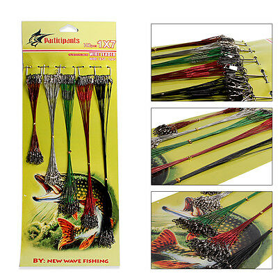 Mix Color Steel Fishing Tackle Line Swivels Saltwater Freshwater Fishing Wire