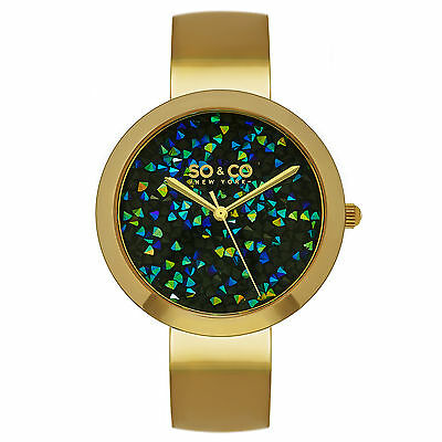 SO & CO Women's 5249.3 SoHo Quartz Metal and Stainless Steel Dress Watch