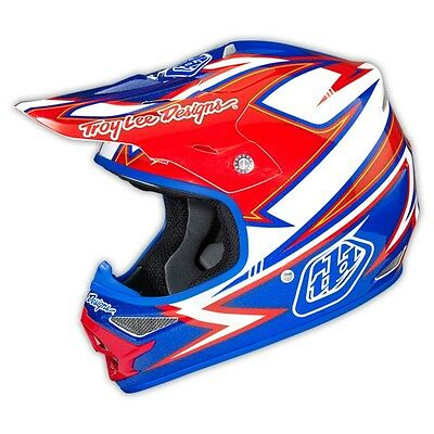TLD 2015 Air Charge MX motocross helmet white/blue large RRP $399 0115-5110