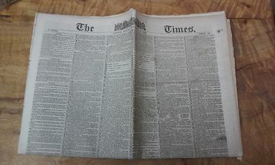 Vintage Newspaper London Times November 1880 # 30,051 16 Pages Collectable