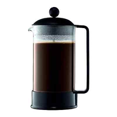 Bodum Brazil 8-Cup French Press Coffee Maker 34-Ounce Serves 3 - 4 people, Black