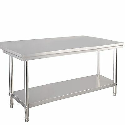 """US Stock 30""""x 48"""" Stainless Steel Commercial Kitchen Work Food Prep Table"""
