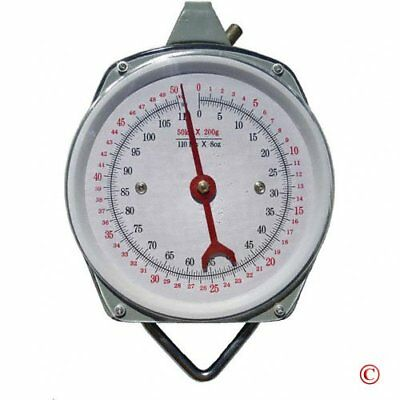 1 X 110 lb. Hanging Spring Kitchen Dial Scale by Pit Bull New