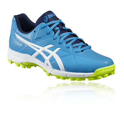 Asics Gel-Hockey Neo 4 Mens Green Blue Hockey Sports Shoes Trainers Pumps