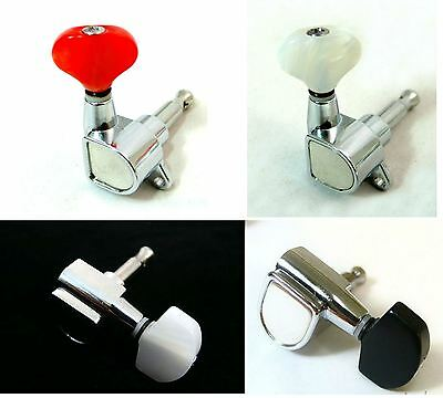 Electric Guitar Chrome Plated Tuners 6 in a Line 233C with acrylic buttons