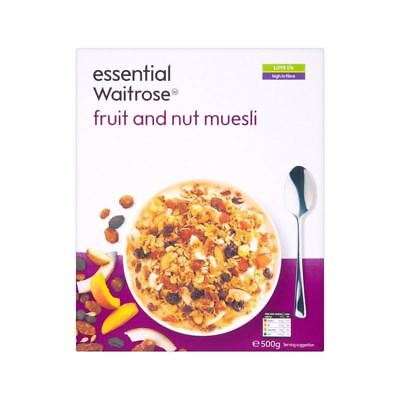 Fruit & Nut Muesli essential Waitrose 500g