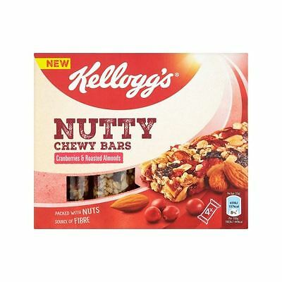 Kellogg's Nutty Chewy Bar Cranberry & Almond 4 x 35g