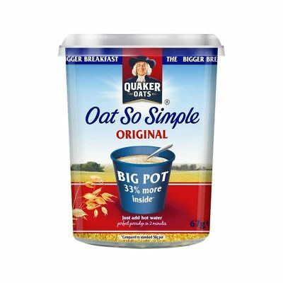 Quaker Oat So Simple Original Porridge Big Pot 67g