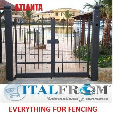Double gates panel fencing railing galvanized wrought iron (ATLANTA)