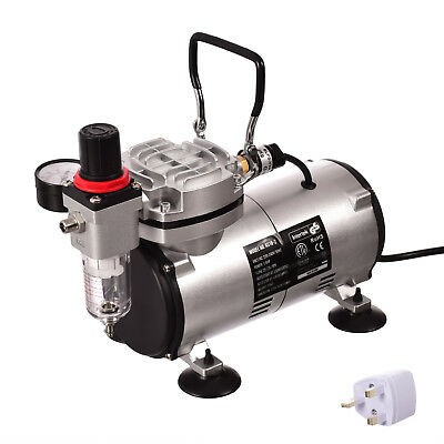 Professional Mini Airbrush Compressor Filter Regulator With Piston Oil-free