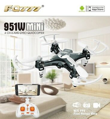 FQ777 951W WIFI Mini Drone FPV with Camera Smartphone Holder Transmitter F17860