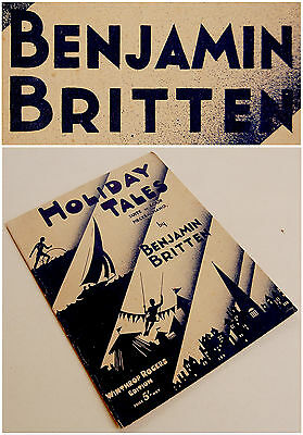 1934-5 Original BRITTEN Piano HOLIDAY TALES Score 1ST EDITION Sheet Music BOOK