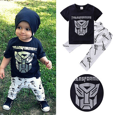 Kids Boys Clothes Sets T-shirt Tops Harem Pants Outfits Suit Size 1-6Y