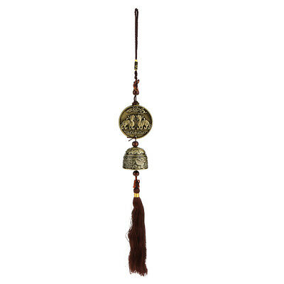 Feng Shui Chinese Oriental Lucky Dragon Metal Bell Wind Chime Decor
