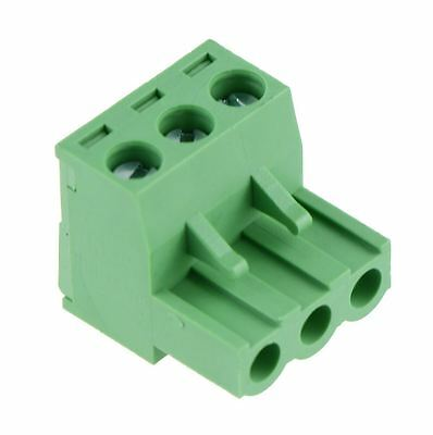 10 x 3-Way Plug-In PCB Screw Terminal Block 5.08mm