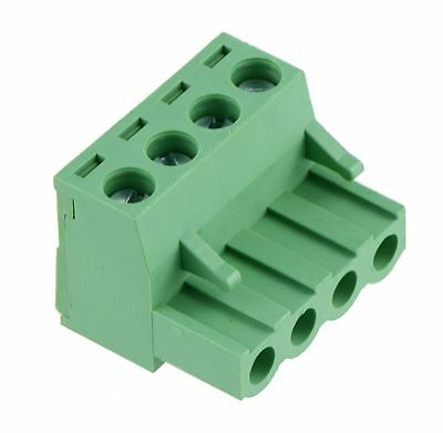 10 x 4-Way Plug-In PCB Screw Terminal Block 5.08mm