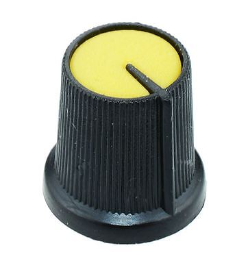 10 x Yellow 6mm Pointer Potentiometer Control Knob
