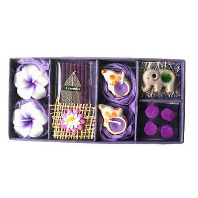 Mini Elephant Lavender Incense, Burner & Candle Christmas / Birthday Gift Set
