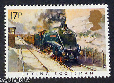 """The Flying Scotsman"" Classic Train illustrated on 1985 stamp - Unmounted Mint"