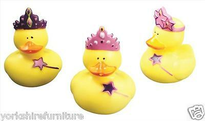 4 Princess Small Bath Rubber Duck Toys Bath Time Fun Time Floating Water Kids