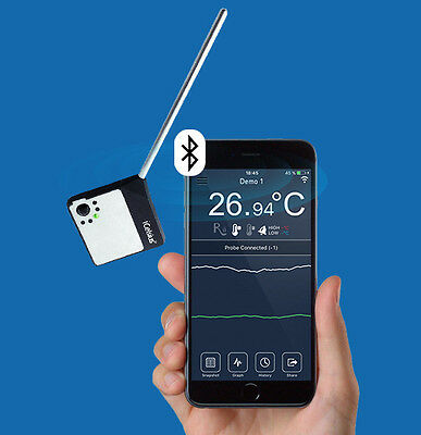 iCelsius Bluetooth PRO Temperature Probe for iPhone / iPad / Android - Free App