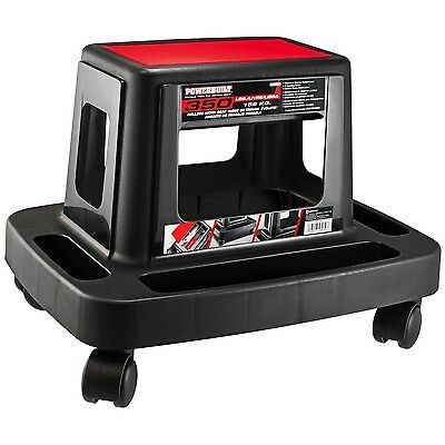 Powerbuilt Sturdy HD Injection Rolling Storage Tray Work Seat - 620526