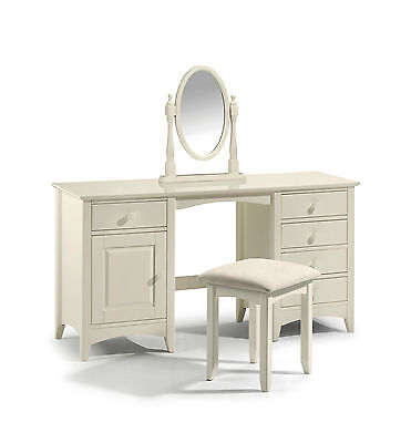 Cameo Twin Pedestal Dressing Table cream With option of Stool and mirror