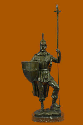 MASSIVE ROMAN Ancient Warrior Bronze Figurine Statue Sculpture Figurine Figure T