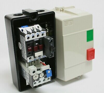 Enclosed Motor Starter Contactor & Overload Start Stop 3.8-5A 24Vac Coil 3Hp