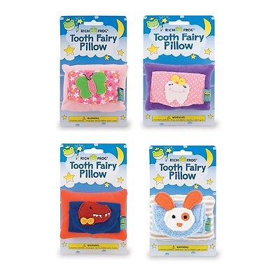 (1) Rich Frog Tooth Fairy Pillow Cushion Pouch Holder for Boys & Girls