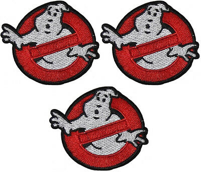 """Ghostbusters Movie Set of 3 NO-GHOSTS LOGO 2 3/4"""" Wide PATCHES"""