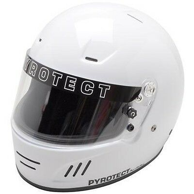 Pyrotect Bell Racing Dot Helmet Off Road Xxl White Sa2010 Full Face Oval Racing