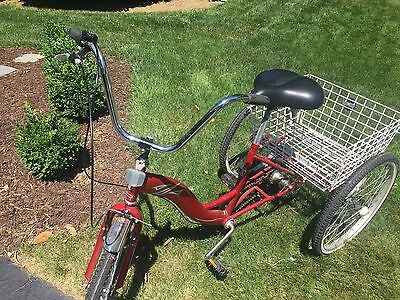 Red adult tricycle