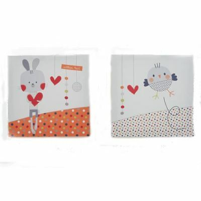 Red Kite Wall Plaques set of 2 - Cotton Tail & Friends Collection Childrens