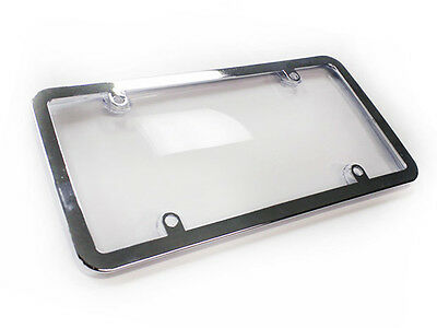 License Plate Cover combo clear  w/Chr Frame, 1pc fit Canada & USA License plate
