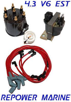 3888325 Marine Ignition Wire Set for 4.3L V6 with Delco EST Ignition 3857165