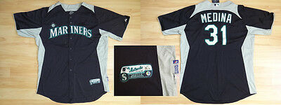 MLB Authentic Baseball Trikot/Jersey SEATTLE MARINERS Medina 31 GameUsed 52/XXL