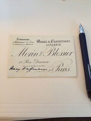 Historic Vintage Receipt Invoice Bill  History Morin Blossier Paris France