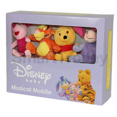 Winnie The Pooh Disney Baby Wind Up Crib Musical Cot Mobile New In Box 0 M+