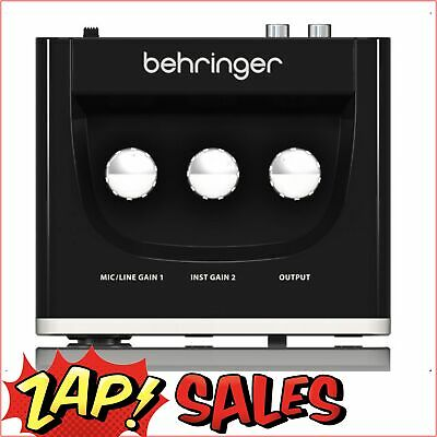 $68 After Discount:Behringer UM2 2x2 USB Audio Interface, Mic Preamp