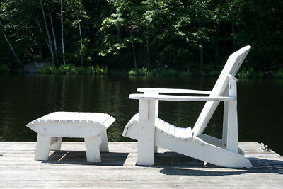 Adirondack Chair & Foot Stool Plans - FULL SIZE PAPER CUTOUTS