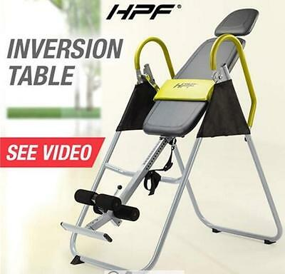 HPF Folding Gravity Inversion Table 180 Degrees Powder coated-steel Safety vinyl