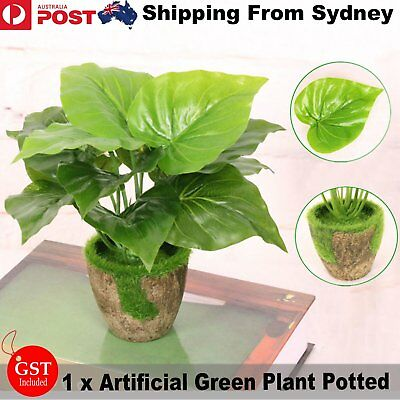 1X Artificial Ivy Leaf Plant Potted Green Fake Plastic DIY Wedding Home Decoaret