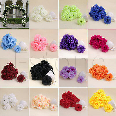 20Pcs Roses Artificial Silk Flower Heads DIY Small Bud Party Wedding Home Decor