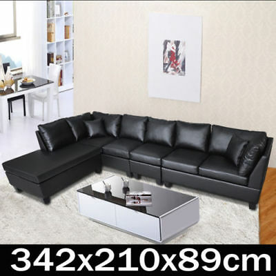 PU Leather Sofa Couch Lounge Corner Suite Chaise Furniture Set New